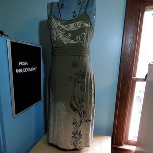 ATHLETA green mandala scroll tank dress